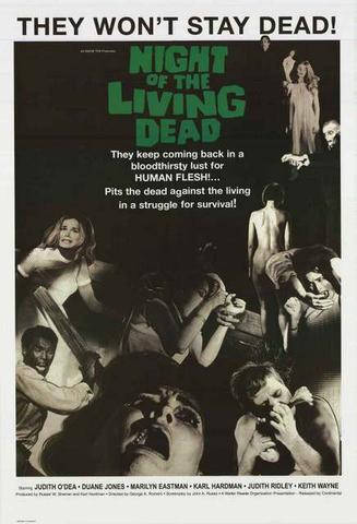 Night Of The Living Dead   Rare Vintage Poster