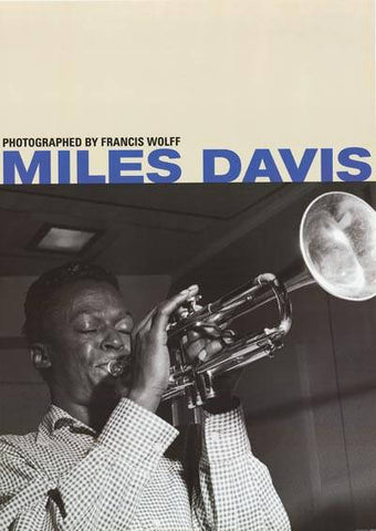Miles Davis Francis Wolff  Rare Poster 24x34