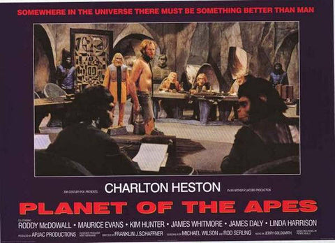 Planet Of The Apes Charleton Heston Rare Vintage Poster