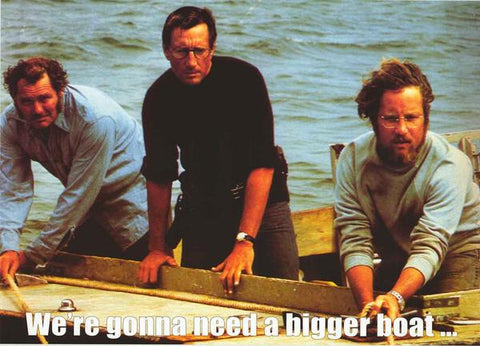 Jaws Movie Bigger Boat  Rare Vintage Poster