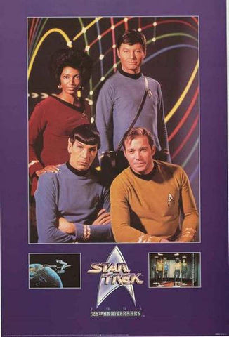 Star Trek TV Show William Shatner Leonard Nimoy 1991 Rare Vintage Poster