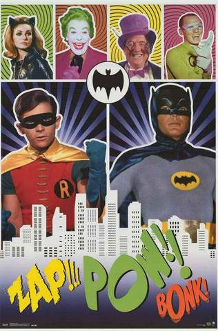 Batman and Robin Classic TV Show  Rare Vintage Poster