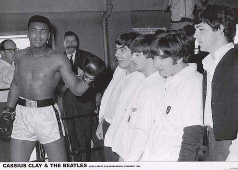 Muhammad Ali With The Beatles  Rare Poster