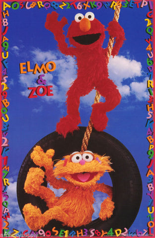 The Muppets Sesame Street Elmo And Zoe 1996 Rare Vintage Poster