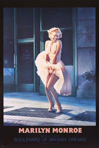 Marilyn Monroe Boulevard Of Broken Dreams Rare Vintage Poster