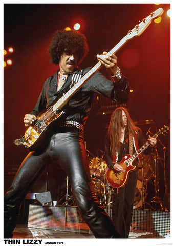 Thin Lizzy Phil Lynott 1977  Rare Poster