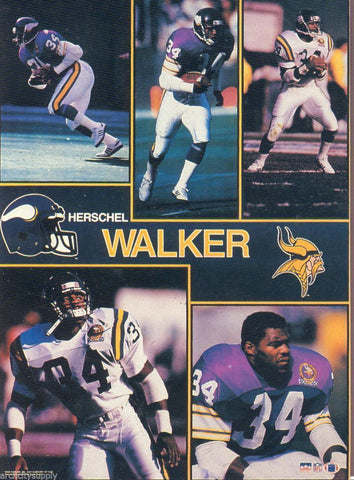 "Herschel Walker Minnesota Vikings Giant Poster 42"" X 58"""