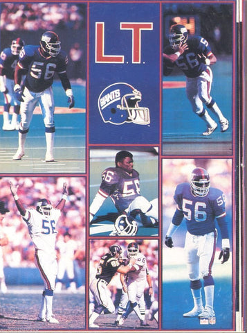 "Lawrence Taylor New York Giants Giant Poster 42"" X 58"""