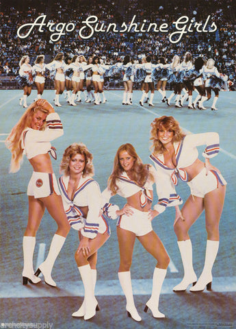 Argo Sunshine Girls 1979 Toronto Argonaut Cheerleaders  Poster