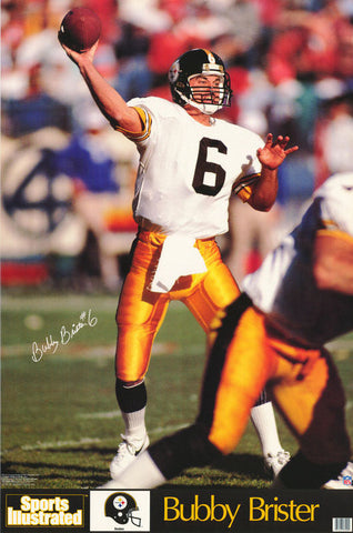 Bubby Brister Pittsburgh Steelers 1991 Poster