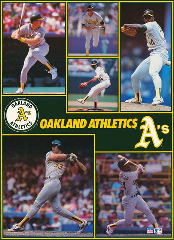 "Oakland Athletics Collage  Giant Poster 42"" X 58"""
