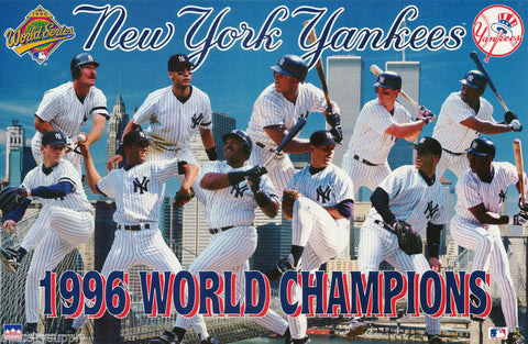 New York Yankees World Series Champions 1996 Poster