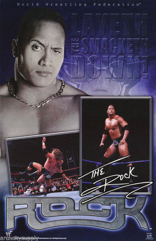 Wrestling WWF The Rock Dwayne Johnson Montage  Poster