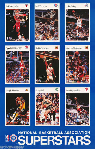 NBA Basketball Stars Of The 90's  Poster