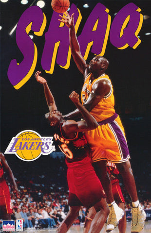 Shaquille O'Neal LA Lakers 1997  Poster