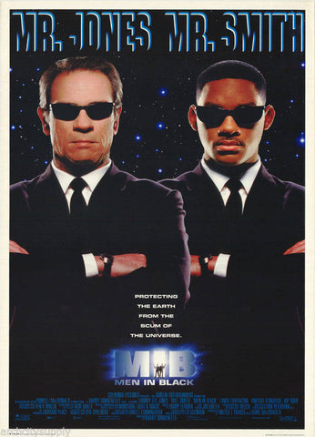 Men In Black Will Smith Tommy Lee Jones 1997  Rare Vintage Poster
