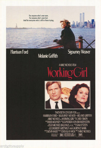 Working Girl Melanie Griffith Sigourney Weaver Harrison Ford  Rare Vintage Poster