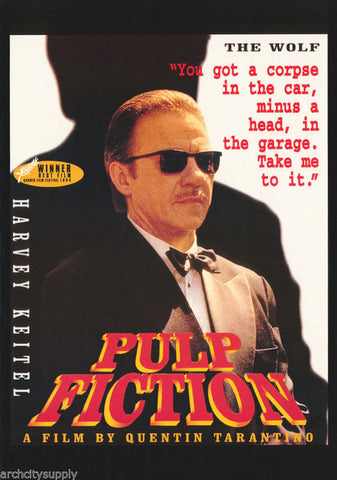 Pulp Fiction Harvey Keitel The Wolf 1994  Rare Vintage Poster