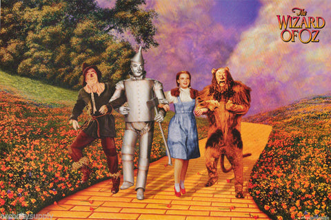 Wizard Of Oz Yellow Brick Road  Rare Vintage Poster