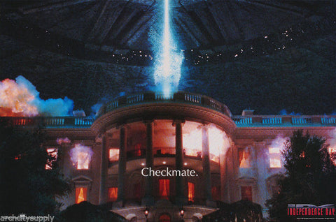 Independence Day Checkmate 1996  Rare Vintage Poster