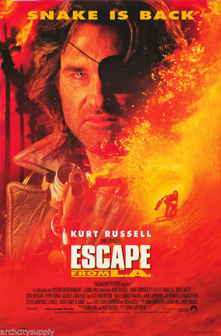 Escape From L.A. Kurt Russell Peter Fonda 1996   Rare Vintage Poster