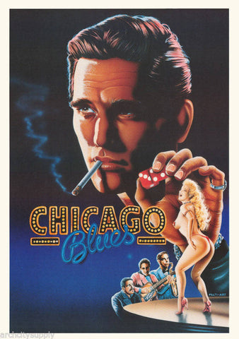 Chicago Blues 1972   Rare Vintage Poster