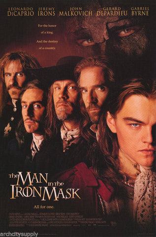 Man In The Iron Mask Leonardo DiCaprio Jeremy Irons   Rare Vintage Poster