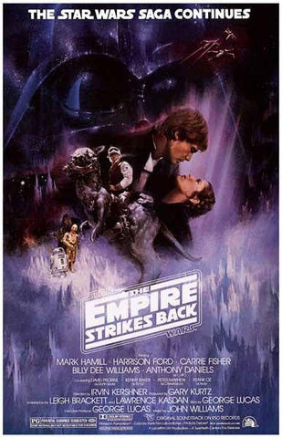 Star Wars The Empire Strikes Back  Rare Vintage Poster