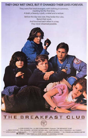 The Breakfast Club  Rare Vintage Poster