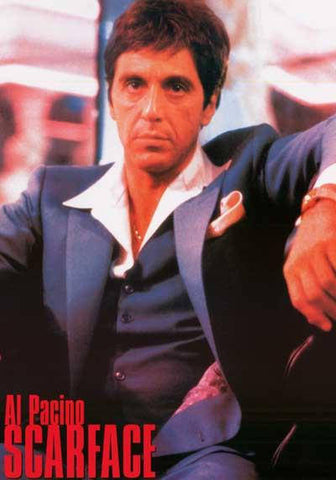 Scarface Al Pacino Bad Guy Rare Vintage Poster