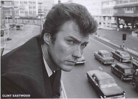 Clint Eastwood London 1960's  Rare Vintage Poster