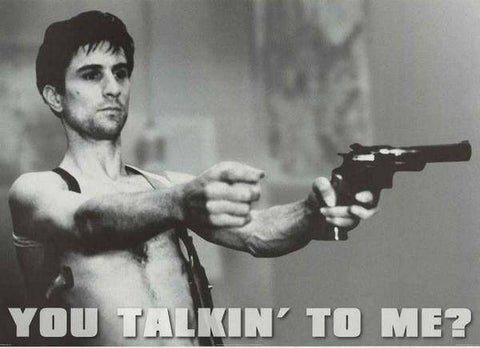 Taxi Driver You Talkin' To Me? Robert Deniro Rare Vintage Poster
