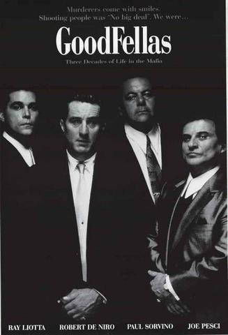 Goodfellas Robert Deniro Ray Liotta Joe Pesci   Rare Vintage Poster