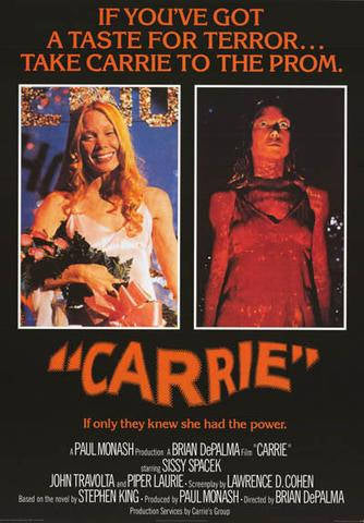 Carrie Sissy Spacek Stephen King Horror Movie  Rare Vintage Poster