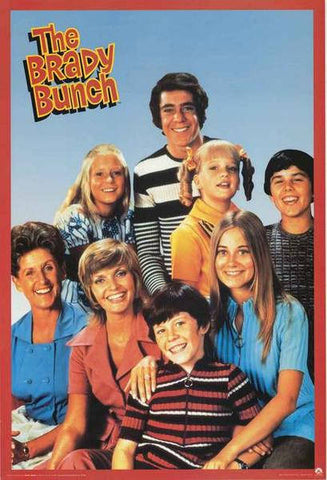 The Brady Bunch TV Show Rare Vintage Poster