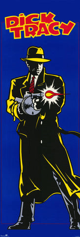 Dick Tracy Rare Vintage Door Poster