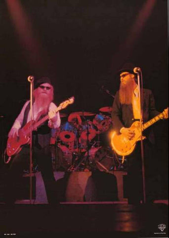 ZZ Top Live 1984 Band Rare Poster