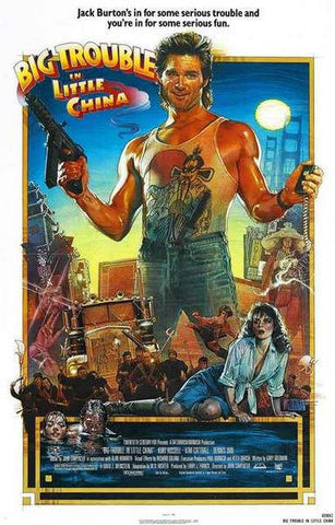 Big Trouble In Little China Kurt Russell  Rare Vintage Poster