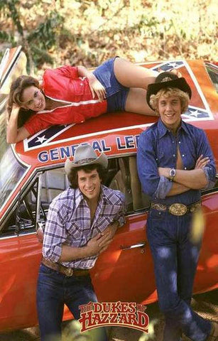 Dukes of Hazzard TV Show Cast  Rare Vintage Poster