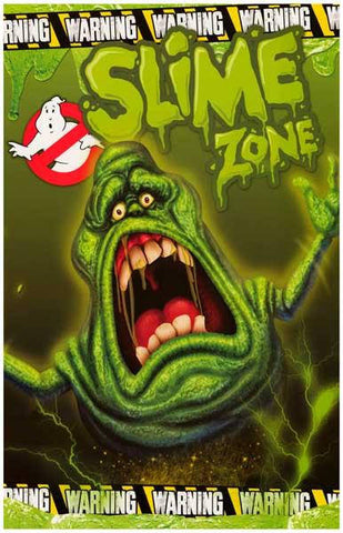 Ghostbusters Slimer Slime Zone Movie Rare Vintage Poster