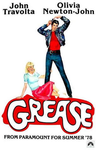 Grease John Travolta Olivia Newton John Movie Rare Vintage Poster