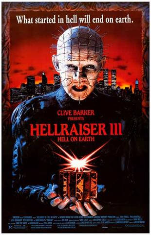 Hellraiser III Movie  Rare Vintage Poster