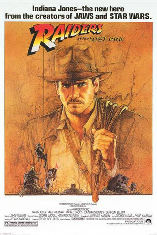 Indiana Jones Raiders Of The Lost Ark Harrison Ford Movie Rare Vintage Poster