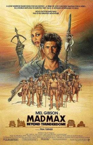 Mad Max Beyond Thunderdome Rare Vintage Poster