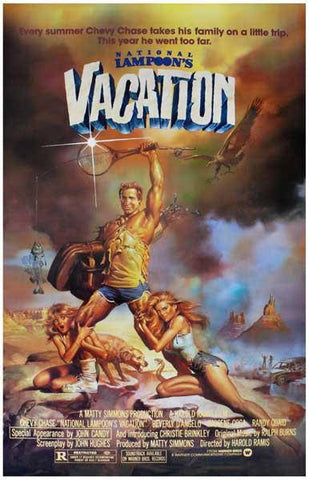 National Lampoons Vacation Chevy Chase Movie Poster Rare Vintage Poster