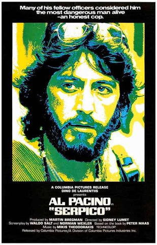 Serpico Al Pacino Movie  Rare Vintage Poster