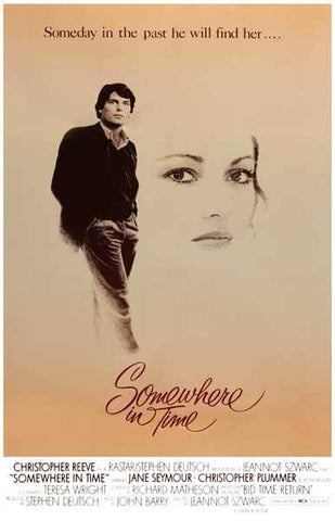 Somewhere in Time Christopher Reeve Movie  Rare Vintage Poster