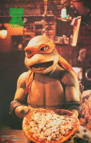 Teenage Mutant Ninja Turtles Michelangelo   Rare Vintage Poster