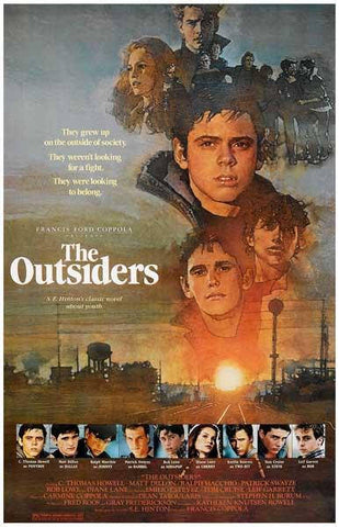 The Outsiders Movie  Rare Vintage Poster