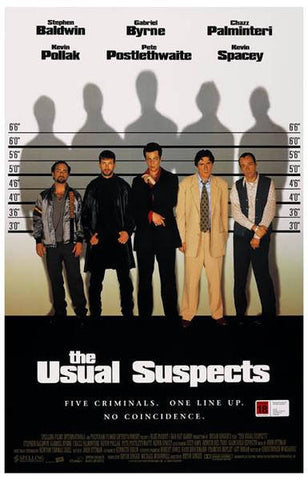 The Usual Suspects Movie Rare Vintage Poster